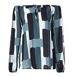 IMJONO Damen Strandshirt Lockeres Sommer Oberteil T-Shirt Tunika mit Spitze aus 100% Baumwolle(EU-40/CN-XL,Schwarz)