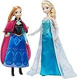 Mattel Disney Princess CKL63 - Modepuppen und Zubehör - Die Eiskönigin Klassik Kollektion Anna und ELSA Geschenkset