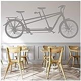 azutura TAndem Bike Adesivo Murale Bicicletta classica Adesivo Da Parete Trasporto Vintage Home decor disponibile in 5 dimensioni e 25 colori X-Grande Moss verde