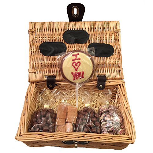 Hampers and gourmet gifts uk gluten free i love you sweet chocolate hamper gift basket perfect confectionery present for him or her husband or wife boyfriend or girlfriend son or daughter negle Choice Image