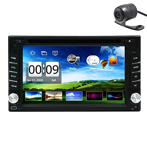 Eincar den heißen Verkauf Produkt 6.2-Zoll Doppel-DIN-Auto GPS-Navigation in Schlag-Auto-DVD-Player Auto-Stereo-Touch Screen mit Bluetooth USB Sd MP3-Radio für Universal Car Free Backup-Kamera  (Backup Usb Kamera)