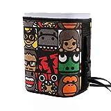 Double couche poubelle voiture poubelle voiture rangée avant et arrière avec créatif bande dessinée Mini sac à ordures compartiment de stockage monté sur voiture seau (Color : Brown, Size : A)
