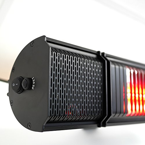 VASNER Appino BEATZZ Schwarz Black Infrarotstrahler Terrassenstrahler dimmbar 2000 Watt mit Bluetooth, LED Backlight Licht, Musik-Lautsprecher Außenbereich mit Abdeckhaube AirCape M - 4