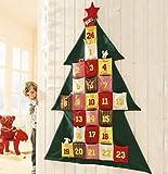 Image of 172cm XXL Adventskalender Advent Kalender Deko Wandbehang Weihnachtsdeko Geschenk Weihnachten zum aufhängen