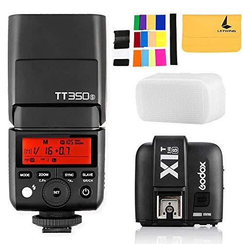 Godox TT350S Mini-Blitz TTL HSS 1 / 8000s 2.4G drahtlos mit X1T-S Blitz-Trigger-Übermittler 2.4G Drahtloser Fernübermittler für Sony spiegellose...