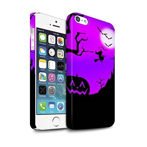 STUFF4 Matte Snap-On Hülle / Case für Apple iPhone SE / Gruselige Schloss Muster / Halloween Szene Kollektion Kürbis/Hexe