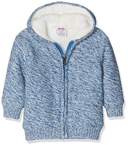 Schnizler Unisex Baby Strickjacke gefüttert Jacke, Blau (Blau 7), 62
