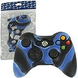 ZedLabz silicone cover for Microsoft Xbox 360 controller - protective skin rubber bumper case - camo blue