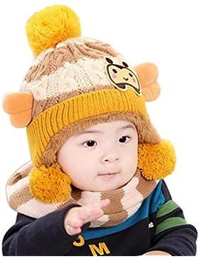 Babybekleidung Hüte & Mützen Longra Baby Mädchen Jungen Winter Hut Gestrickte Wolle Mützen Schal Woolen Hood Mützen...