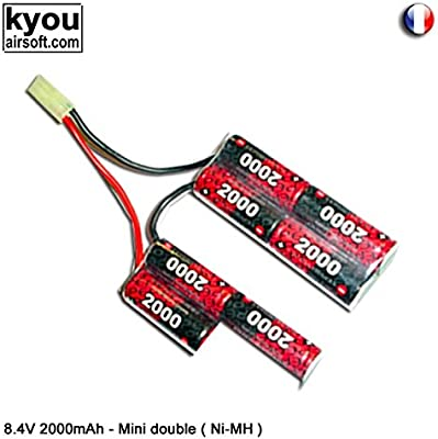 Kyou - Pack batterie 8.4v 2000mah (EP 2000UVAF) - Type Double