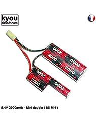 Kyou - Pack batterie 8.4v 2000mah (EP 2000UVAF) - Type Double