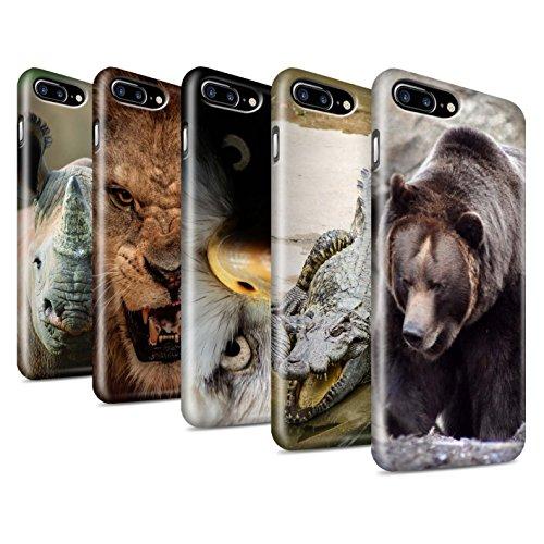 STUFF4 Glanz Snap-On Hülle / Case für Apple iPhone X/10 / Eidechse Muster / Wilde Tiere Kollektion Multipack Wild