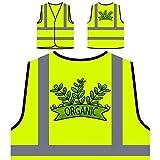 Chef d'aliments biologiques drôle végétalien sain Veste de protection jaune personnalisée à haute visibilité d503v