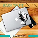 MARILYN MONROE MacBook Aufkleber – Winter is coming – House Of Stark/Schwarz Vinyl/Notebook/Laptop Artwork-Design/Apple Aufkleber MacBook Pro, MacBook Air