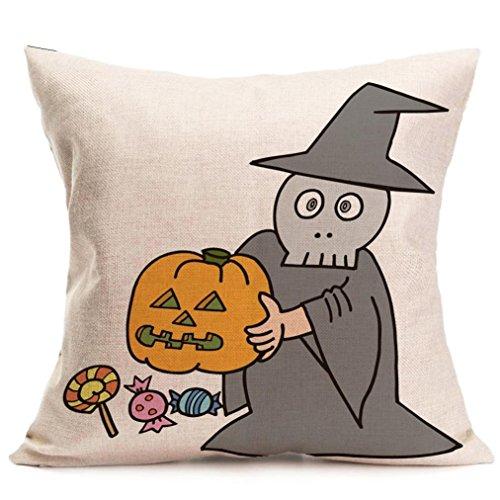 Halloween Kissenbezüge, LSAltd Leinen Schlafzimmer Kissenbezug Home Decor (G) (Schwarze Katze Halloween Kostüme Tumblr)