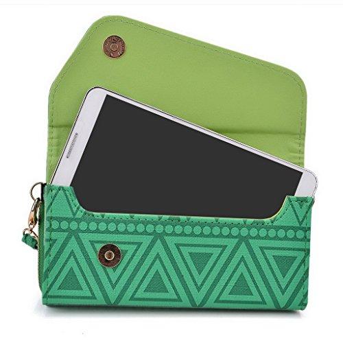 Kroo Pochette/étui style tribal urbain pour Huawei Honor 6Plus Multicolore - White and Orange Multicolore - vert