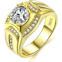 Anillo oro hombre joyería de moda de boda y compromiso anillos de sello de bandas con