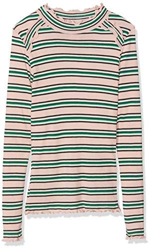 Long Sleeve Knit Tee (Scotch & Soda Mädchen Rib Knit Long Sleeve Tee in Yarn dye Stripes with Ruffles Langarmshirt, Mehrfarbig (Combo A 217), 116 (Herstellergröße: 6))