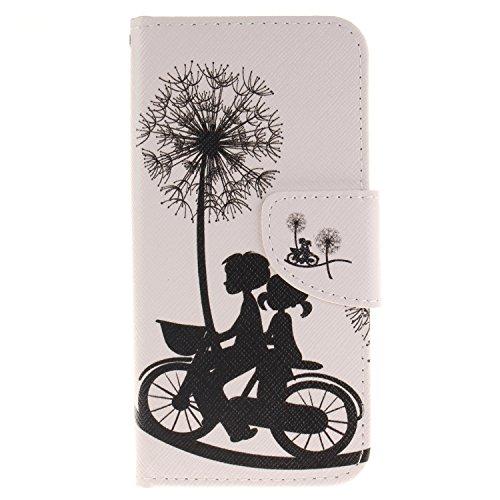 Coque Etui pour iPhone 7,Coque Portefeuille PU Cuir Etui pour iPhone 7,Flip Protective Cover Leather Wallet Case pour iPhone 7,iPhone 7 Coque Fille,Coque Fleur Etui pour iPhone 7,EMAXELERS iPhone 7 4. H Animal Flower 7