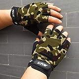 Vazan - Männer Radfahren Handschuhe Half Finger Fahrradhandschuhe für Fahrräder Anti-Rutsch-weiche atmungsaktive Radfahren Handschuhe Fitness Sports [Camouflage XL] aus dem US-Schiff