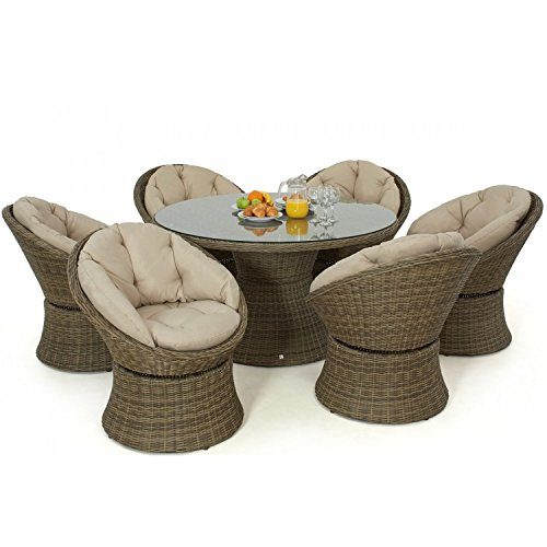 The Dining Rooms Oswestry: Dorset Rattan Garden Furniture 6 Seat Swivel Dining Set
