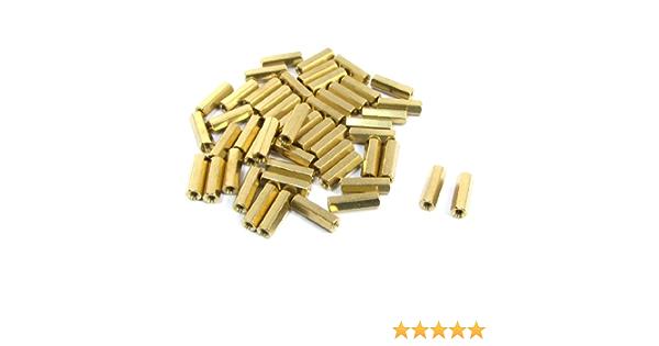 amagnetica n.8 pezzi Torretta esagonale ottone M4x50