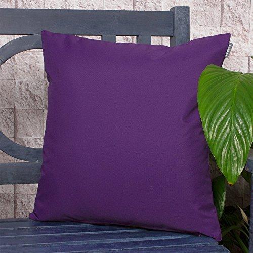 Komfort CO Outdoor Wasserdicht Faser gefüllt Garten Kissen für Stühle/Sitze und Bänke–Violett