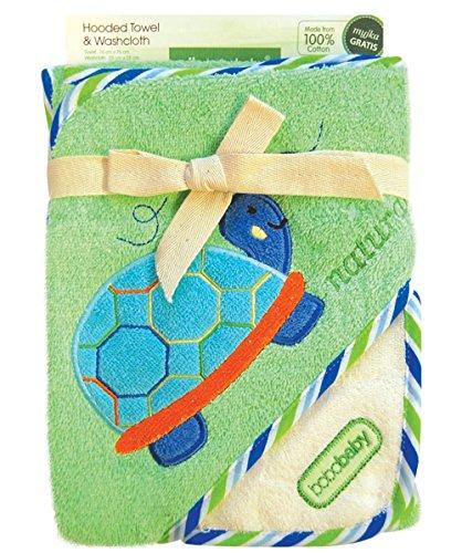 bobobaby-unisex-geschenk-set-aus-baby-badetuch-mit-kapuze-76x76cm-und-baumwoll-latzchen-grun-schildk