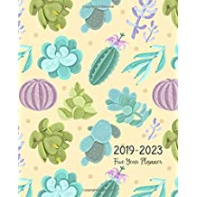 Five Year Planner 2019-2023: Monthly Schedule Organizer - Agenda Planner For The Next Five Years, 60 Months Calendar January 2019 - December 2023 | cactus Nature