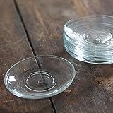 6-tlg. Unterteller-Set aus Glas für türkische Teegläser oder Tassen - oval -