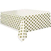 2.7m Polka Dot Plastic Tablecover–1.4m