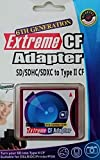 Extreme CF Adapter 6th Generation SD/SDHC/SDXC/WiFi-SD auf CompactFlash Typ II Speicherkarte Adapter NEU OVP