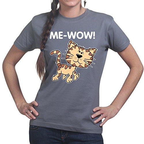 Me-Wow Meow Cat Funny Sheldon Cooper Ladies Womens T shirt (Funny Cat Lady Kostüm)