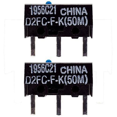 IT-Services Irro 2X D2FC-F-K(50M) Mikroschalter Reparatur-Satz/Repair-Kit passend für Mäuse von Logitech, Razer, Roccat, SteelSeries und Weitere -