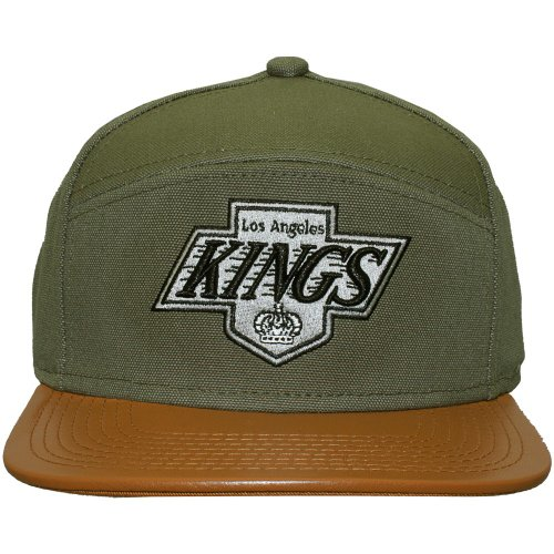 Mitchell And Ness - Casquette 6 Panel Hybrid Homme Los Angeles Kings Canvas Horizon - Green/Brown