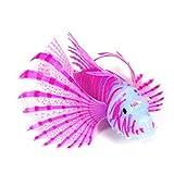 dgyl88 Pesce Artificiale, Effetto Luminoso, Finto Pesce per Acquario, Decorazione Ornamentale (Blu) (Viola)