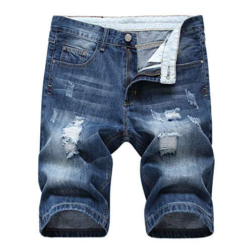 Frauit pantaloncini uomo jeans strappati taglie forti vintage pantaloncini ragazzo denim tasconi casual plus size oversize bermuda cargo uomini lavoro pantaloni slim fit elasticizzati shorts pantalone