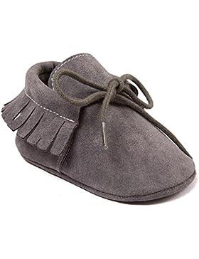 R & V Unisex Infant Baby Boys 'Moccasins Niñas Suave Suela borlas Prewalker antideslizante zapatos de bebé