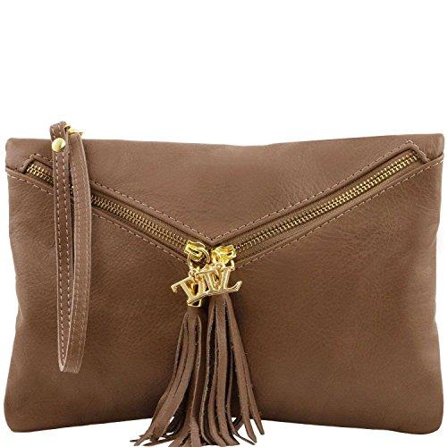 Tuscany Leather - Audrey - Sac à main pour femme - Taupe foncé