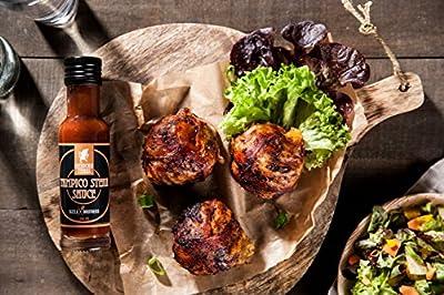 Mexican Tears® - Sizzlebrothers Grillbox, 3er-Pack scharfe Sauce aus Chili & Meersalz, perfekt als Grill-Zubehör für BBQ Sauce, Pulled Pork & zum Aufpeppen von Magic Dust [3x100ml Chili Sauce]