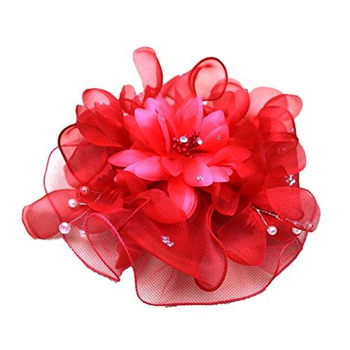 jelinda mariage mariée Fleur Pince à cheveux Bibi avec strass et perles
