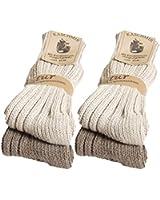 4 Paar Damen oder Herren warme BRUBAKER Kaschmir-Socken in hoher Qualität mit 48% Schafswolle und 40% Cashmere Anteil