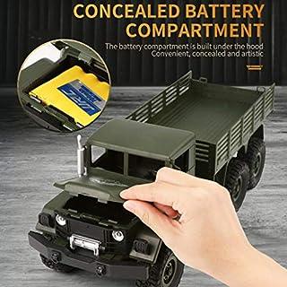 CR Car AP Auto RC Ferngesteuerte LKWs des Auto-LKWs Spielzeug-LKW-Ferngesteuerter Geländewagen Spielzeug 2,4G Fernsteuerungs-4WD verfolgt Nicht für den Straßenverkehr Militär-LKW-Auto ArmyGreen