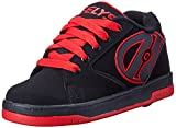 Heelys Propel Skate Shoe (Toddler/Little Kid/Big Kid), Black/Red, 5 M US Big Kid