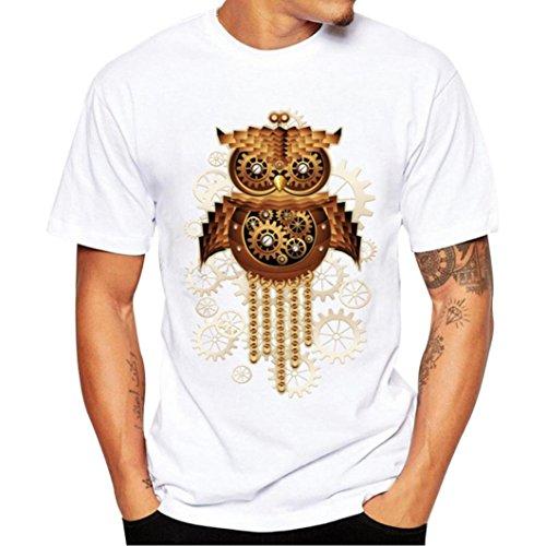 8af018ef08 Yvelands Printing Tees Shirt Moda para Hombre Guapo Funny O-Cuello Modal  Durable Manga Corta