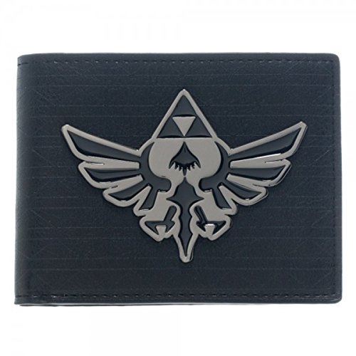 Nintendo The Legend Of Zelda Skyward Sword Black Metal Badge Bi-Fold Portafoglio