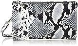 Armani Jeans Damen Wallet Baguette, Mehrfarbig (Bianco/Nero), 12x4x20 cm