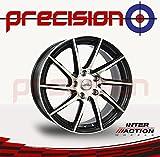 "Set of 4 x 17"" RV10 Black/Polished Alloy Wheels for ṾW Touran 5T1 (15-16) Part No.V17755112E45ZP73RV10-25488"