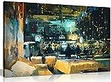 Moderne, abstrakte Wandarbeit Kunst Leinwand Bilderdruck, A0 91x61cm (36x24in)