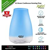 Allin Exporters Electronic Ultrasonic Aroma Diffuser And Humidifier 2 In 1 Cool Mist Oil Diffuser With 100Ml Tank Capacity - 6 Different Colorful Lights